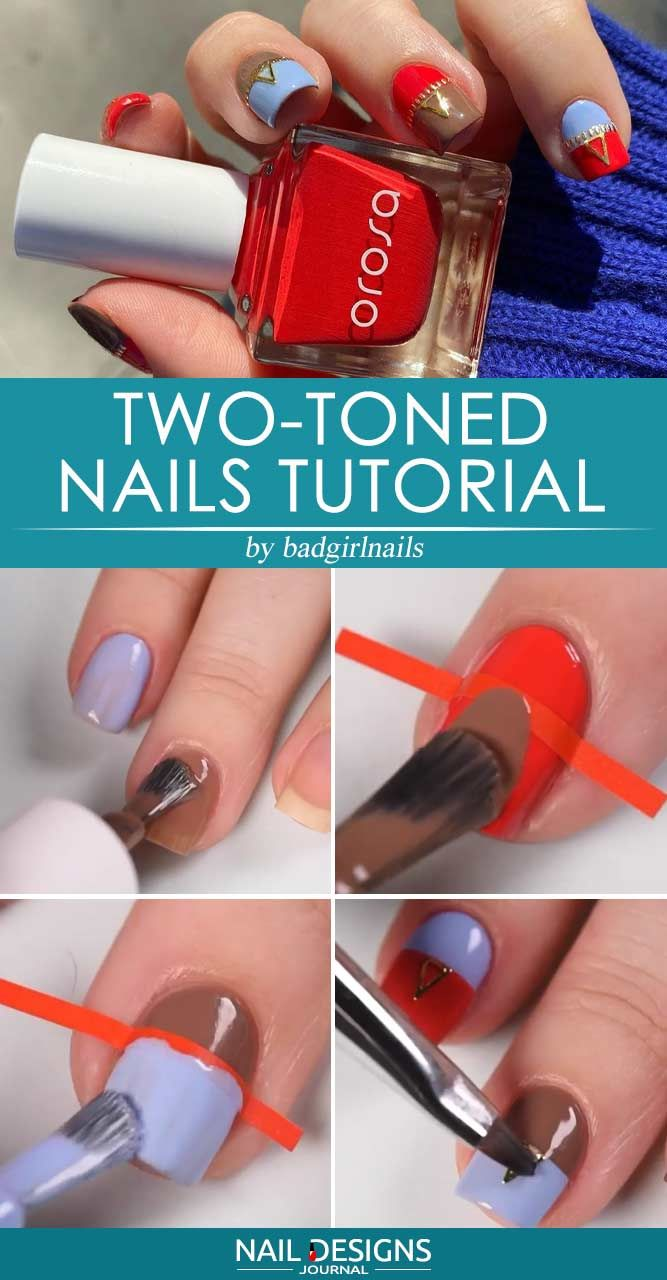 Two-toned Nails Tutorial
