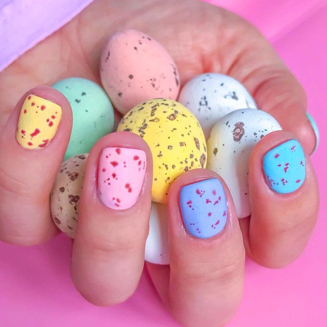 Simple Easter Nails