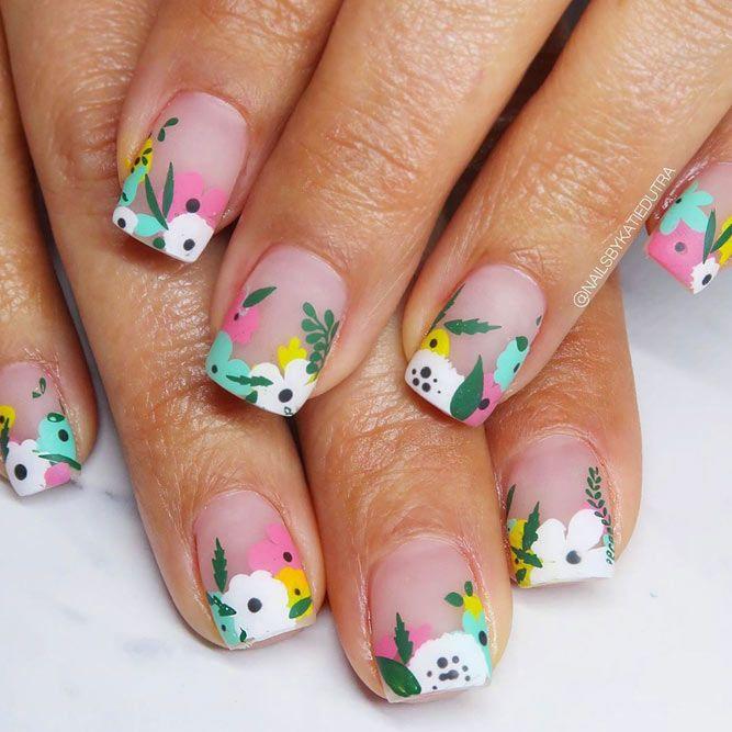 Easter Flowers Nail Design