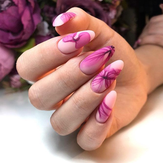 Amazing Matte Pink Flowers Design