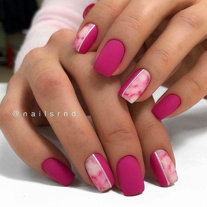 Pink Matte Short Acrylic Nails