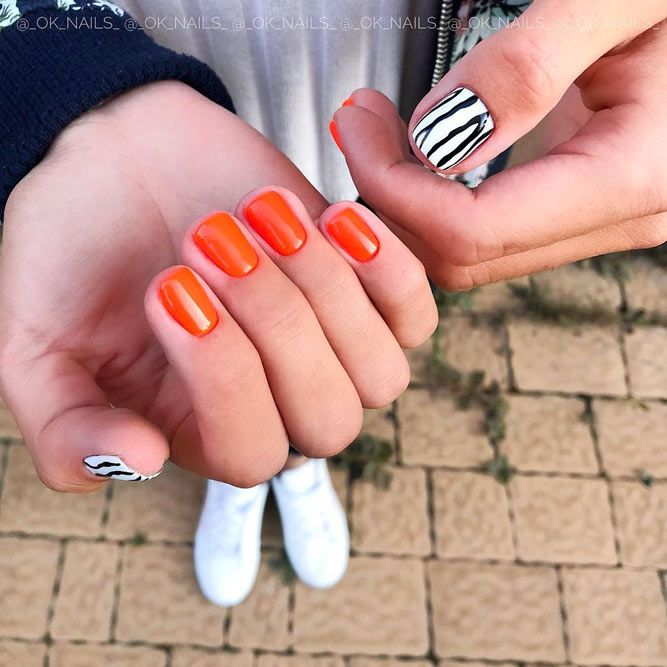 Tangerine Shades For Spring Nails
