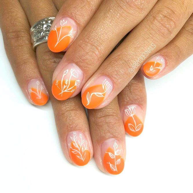 Orange Shades For Spring Nails