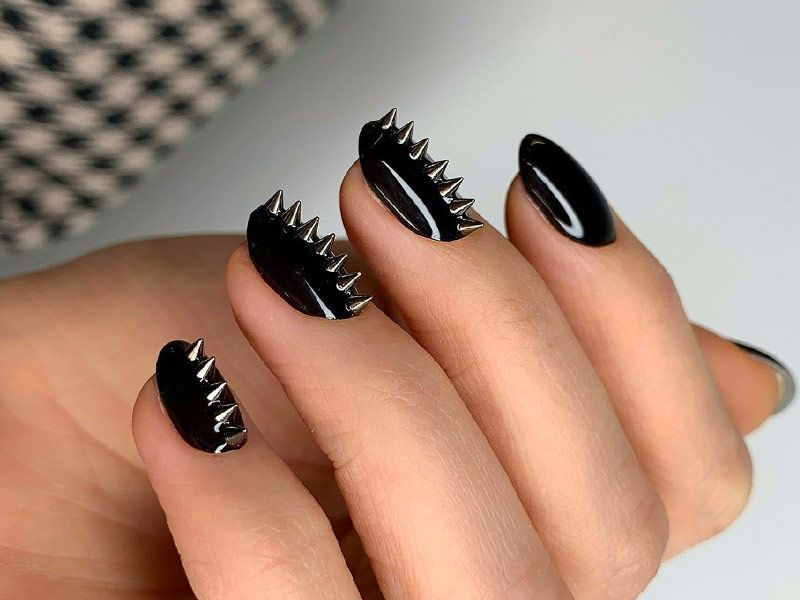 Top Most Creative Black Acrylic Nails Designs