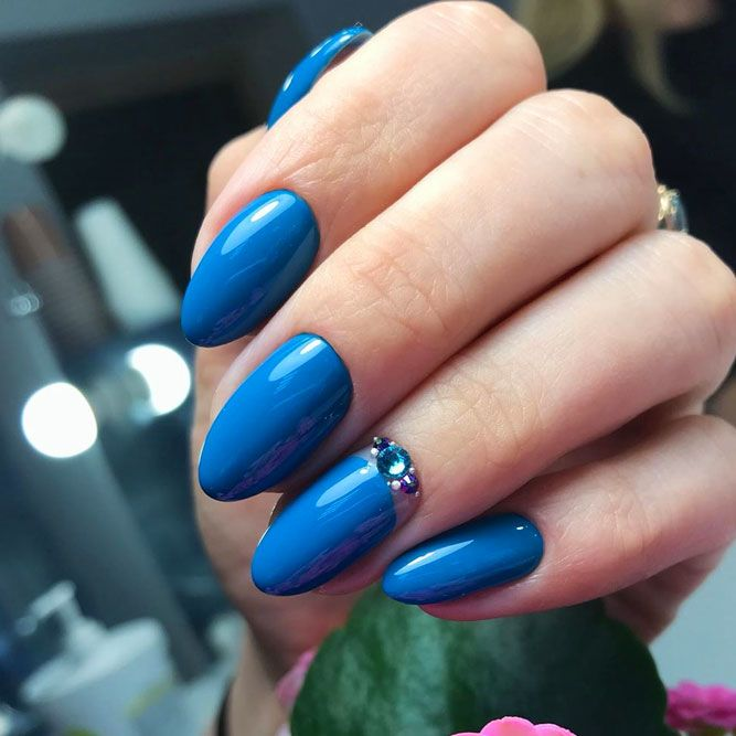 Dusty Blue Summer Nails
