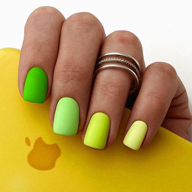 Matte Neon Green Summer Nail Colors