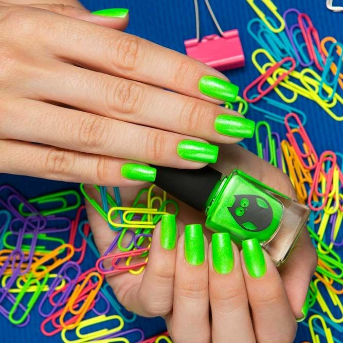 Neon Green Summer Nail Colors