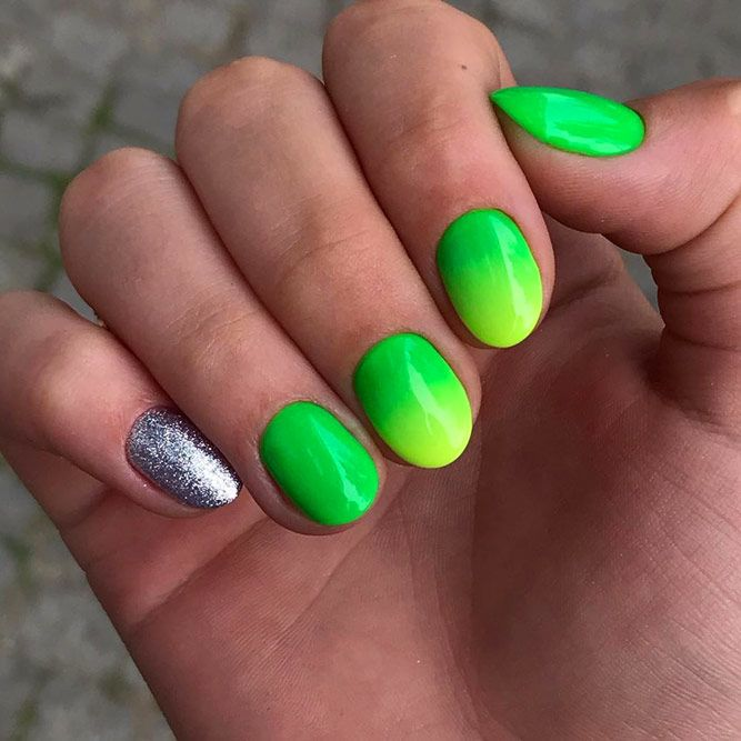 Neon Yellow-Green Summer Nail Color