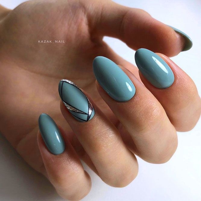 Dusty Blue Summer Nails Color