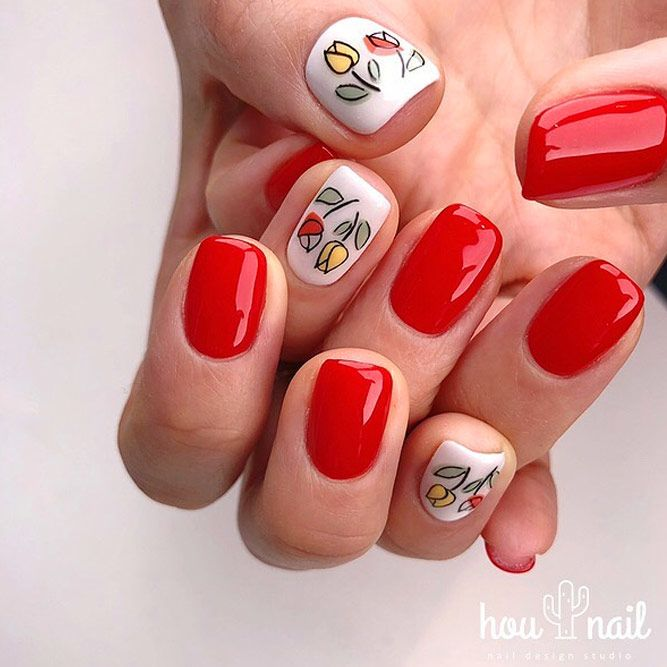 Red Summer Nails Color