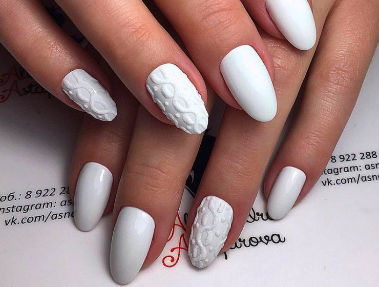 Elegant and Amazing White Nail Designs