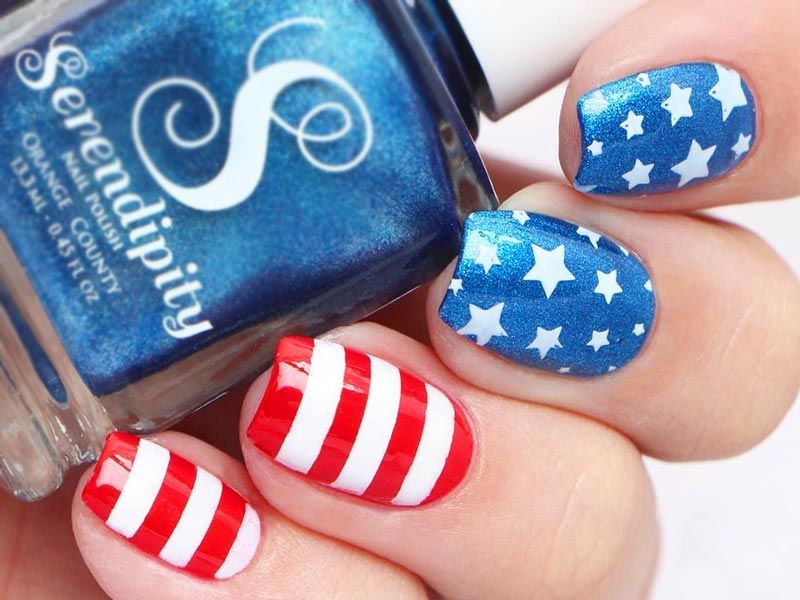 Cute Nail Art Desings for Labor Day