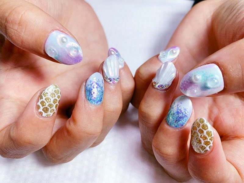 Fabulous Mermaid Nails Ideas