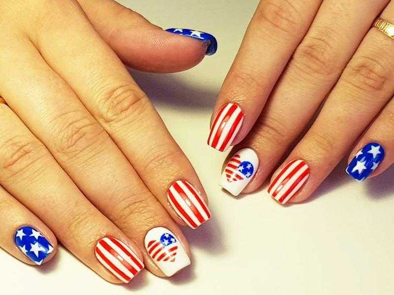Ideas Of Patriotic Memorial Day Nail Designs
