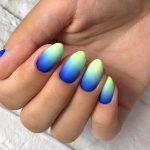 Bright Neon Colors Ombre Nails Design
