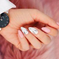 stylish pink and white nails  naildesignsjournal