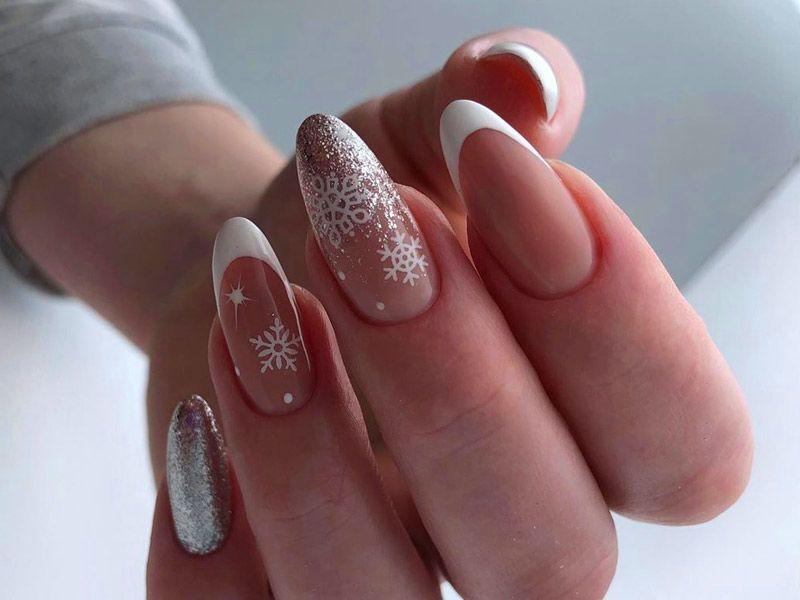 Best Tutorials of Snowflake Nails Designs