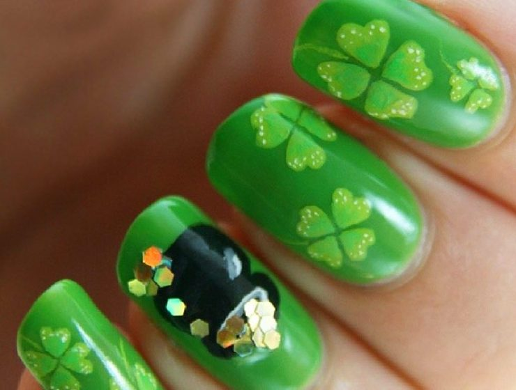 Lucky Nails Designs For St. Patrick's Day