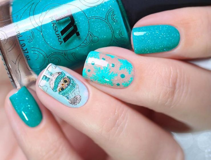 Teal Color Nails Designs You'll Fall In Love With