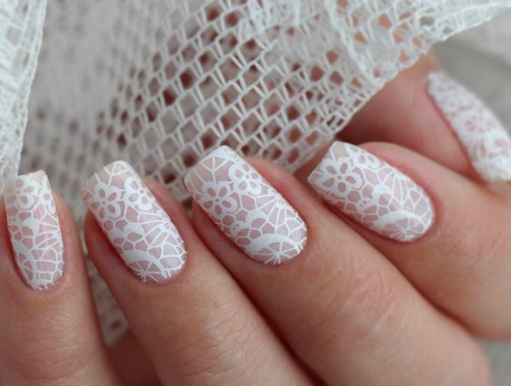 Pretty Nails Designs for Weddings or Special Occasions