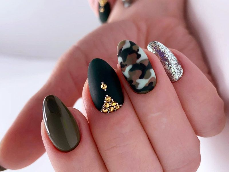Easy Camo Nails How To Do It In Simple Steps