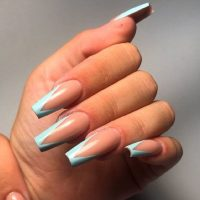 gorgeous coffin acrylic nails ideas  naildesignsjournal