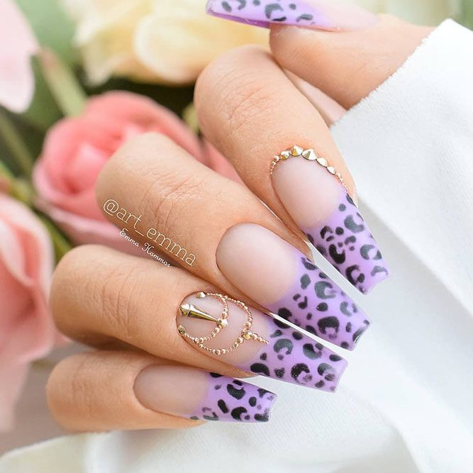 Animal Print For Coffin French Nails