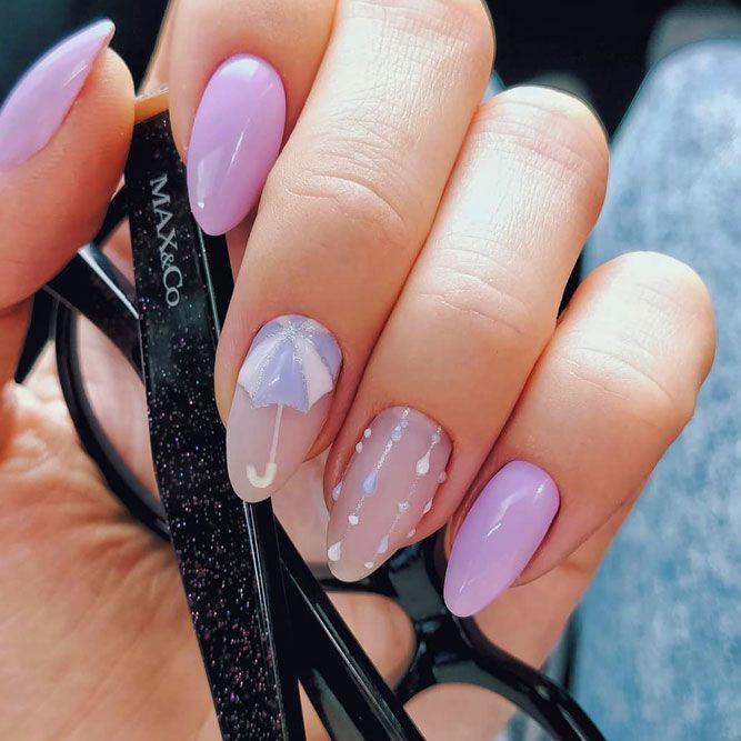 Romantic Summer Lavender Nails