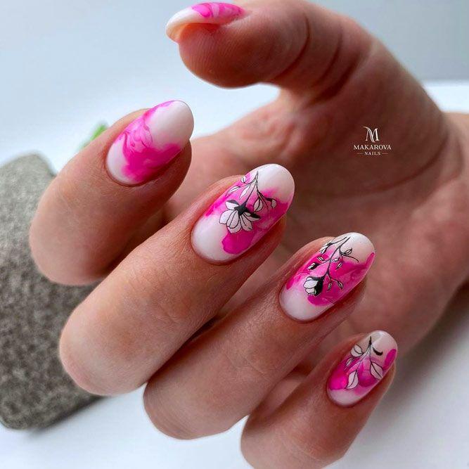 Bright Pink Summer Nails