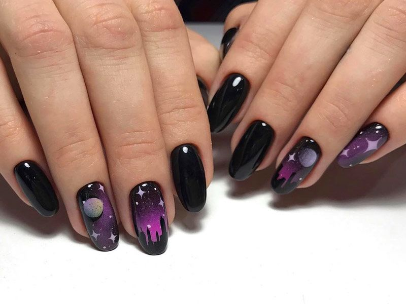 Cool Ideas and Simple Tutorials of Skyline Nails That You Couldn't Imagine